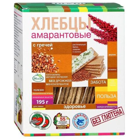 Хлебцы амарантовые с гречей Di&Di, 195г