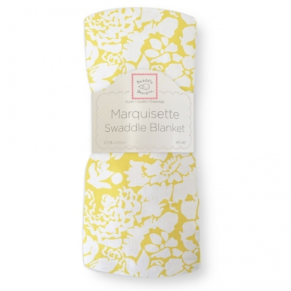 Муслиновая пеленка SwaddleDesigns Маркизет Yellow Lush