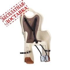 Велокресло для детей HTP ELIBAS T (бежевое), крепление к подседельной трубе