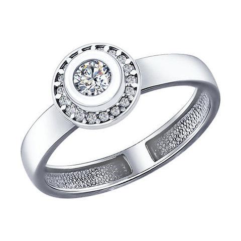 94011961 -Кольцо из серебра с фианитами