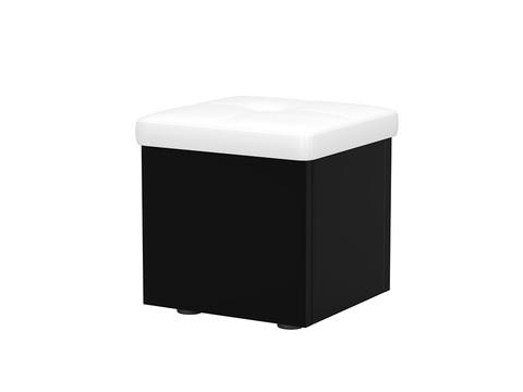 ЛДСП+Экокожа, Черный с белым