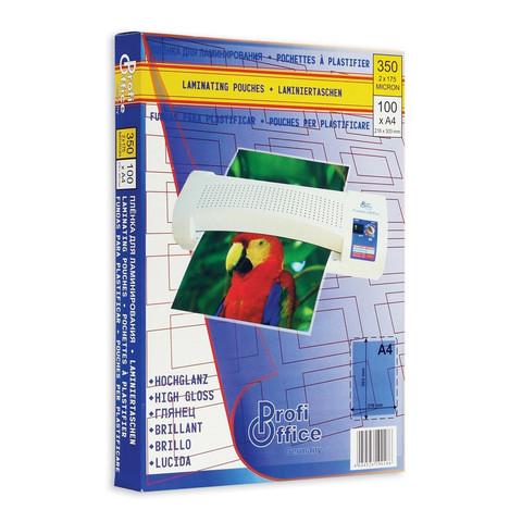 Пленка для ламинирования ProfiOffice 303x216 мм (А4) 175 мкм глянцевая (100 штук в упаковке)