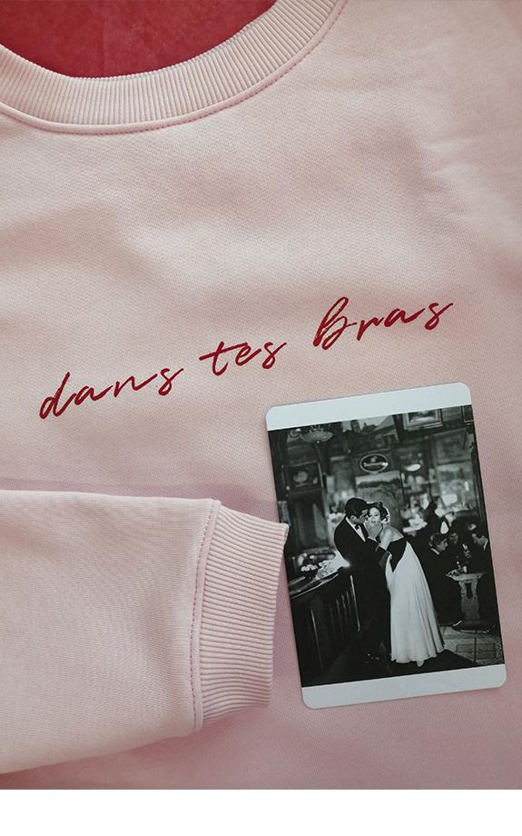 Свитшот с надписью розовый