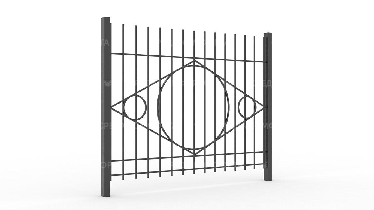 Забор из профильной трубы ZBR0140