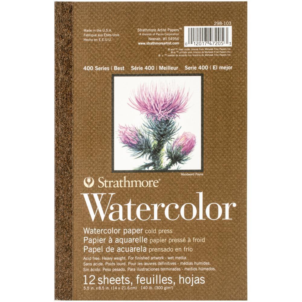 Блокнот для акварели Watercolor Paper cold press 14х21,6см  -12л.