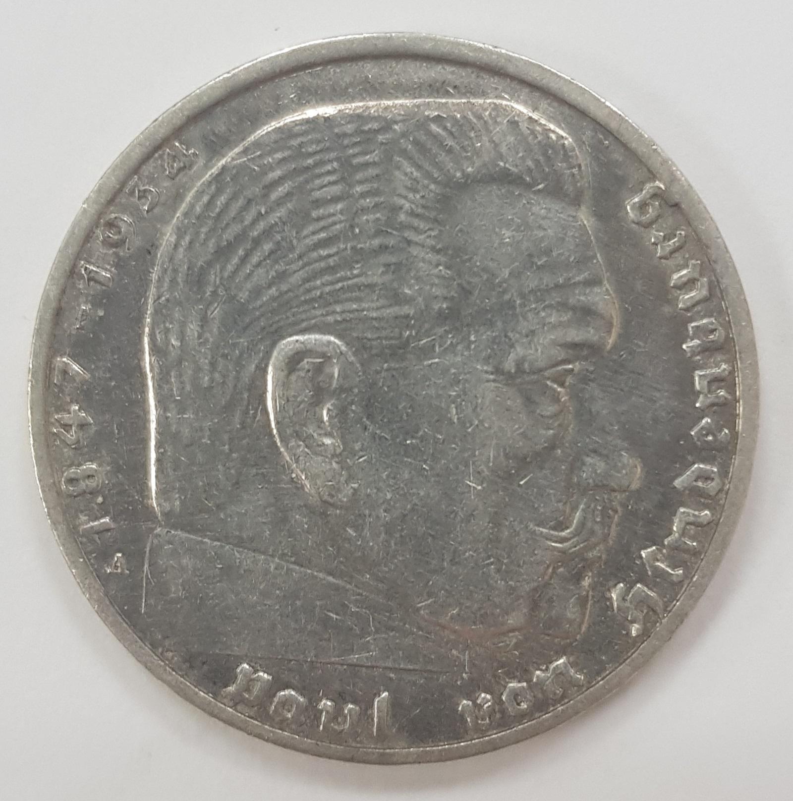 2 марки 3 рейх 1938 год (А) XF