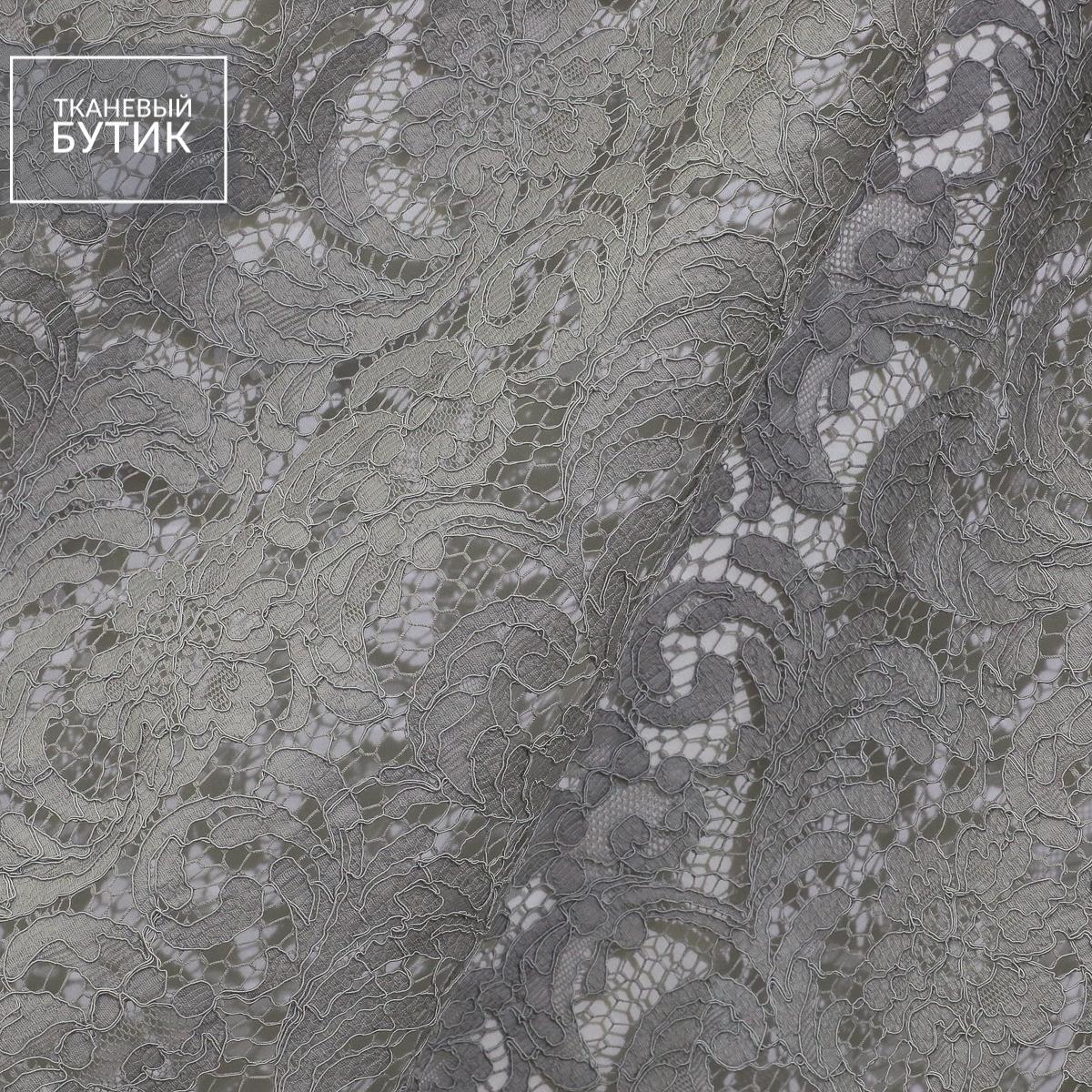 Французское кордовое кружево серого цвета