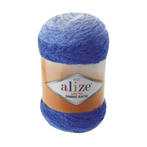 Купить Пряжа Alize Softy Plus Ombre Batik Цвет 7282 Синий | Интернет-магазин пряжи «Пряха»