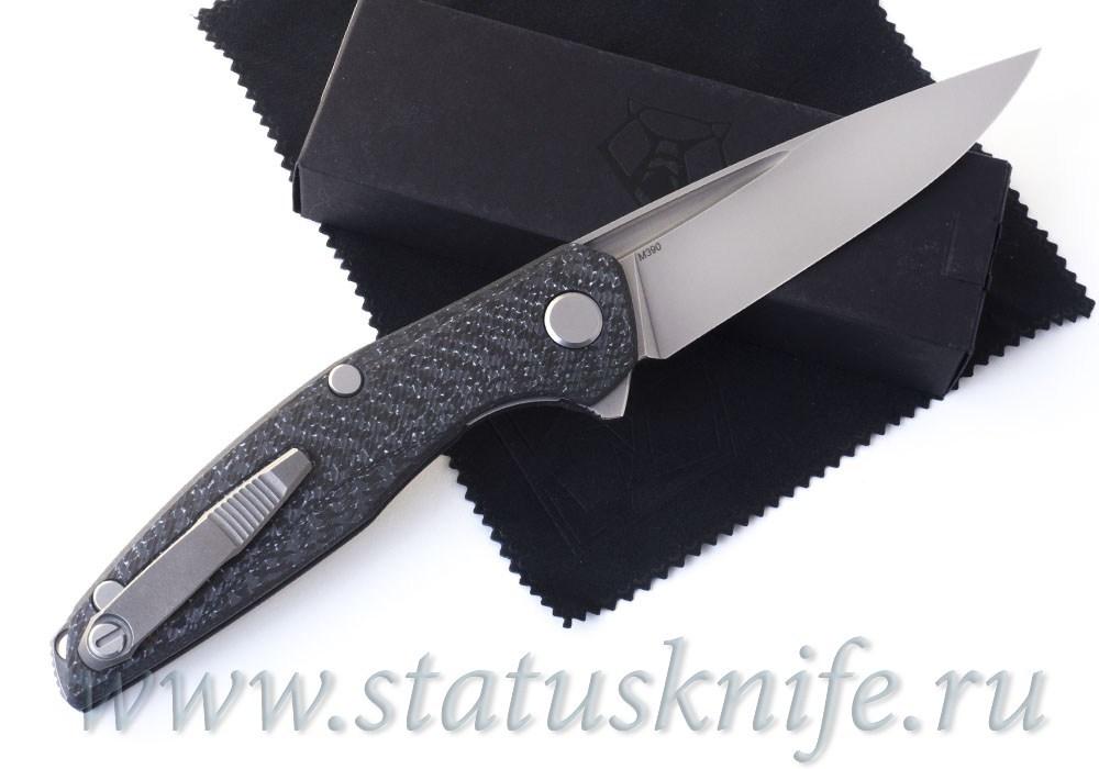 Нож Широгоров 111 М390 Долы Карбон White 3D MRBS - фотография