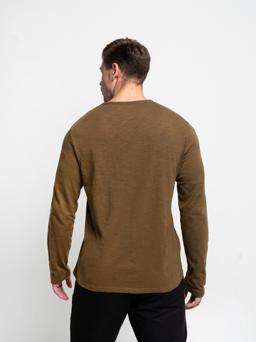 Long-sleeved crewneck pistachio t-shirt