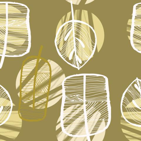 Листья абстрактные