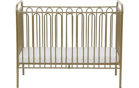 Кроватка детская Polini kids Vintage 150 металлическая, бронзовый