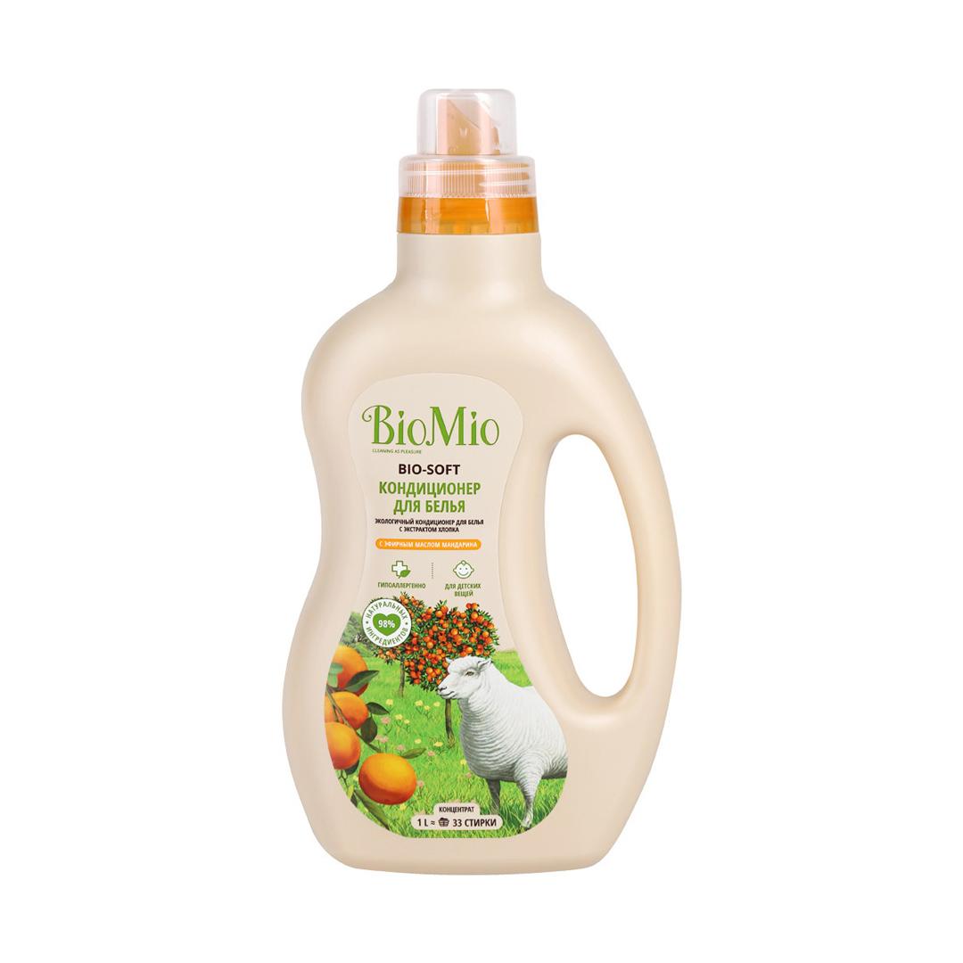 BioMio Bio-Soft эко-кондиционер с экстрактом хлопка с эфирным маслом мандарина 1 л.