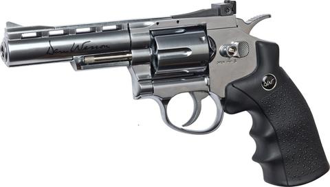 """Страйкбольный револьвер Dan Wesson 4"""" газ, nbb, серебристый (артикул 16181)"""