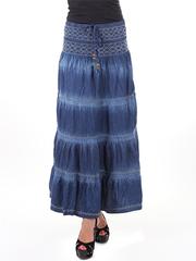 722 юбка синяя