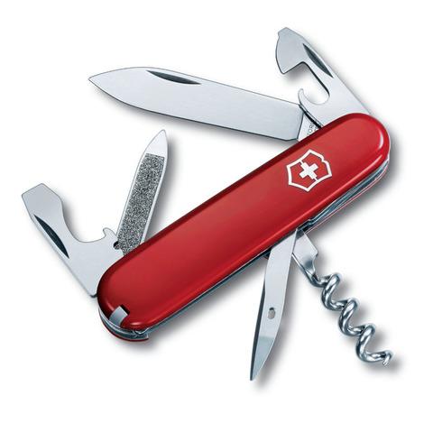 Нож перочинный VICTORINOX Sportsman, 84 мм, 13 функций, красный VC- 0.3803