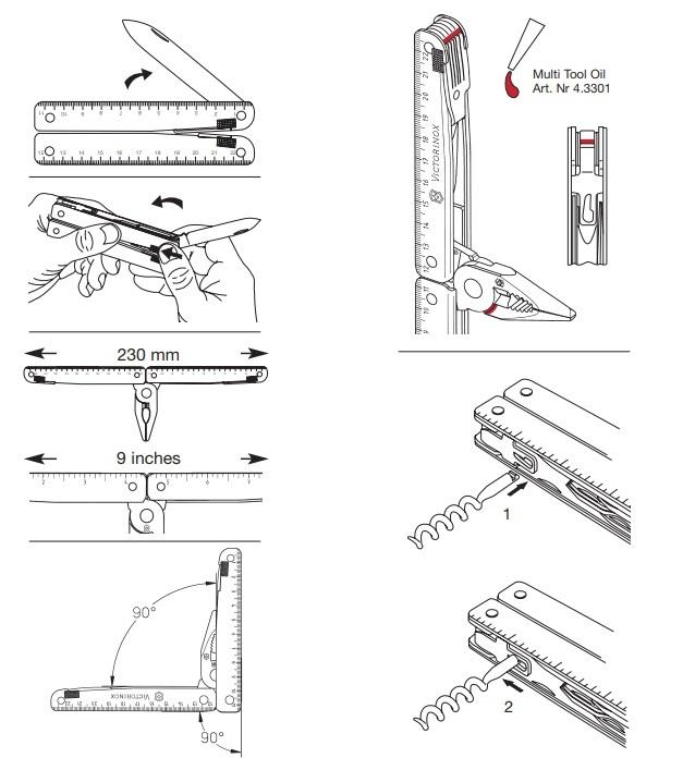Мультитул Victorinox SwissTool (3.0327.L) 115 мм. в сложенном виде, кожаный чехол - Wenger-Victorinox.Ru