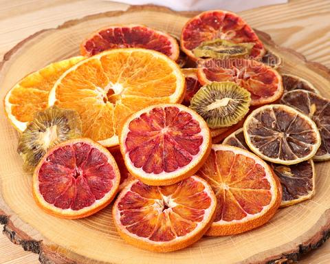 фруктовые чипсы апельсин, лимон, киви купить