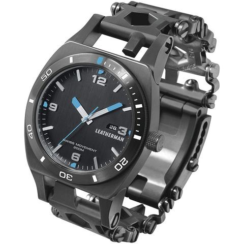 Браслет мультитул Leatherman Tread Tempo (832420) с часами черный