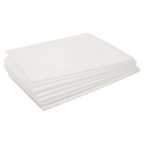 Простынь 80х200 белая, инд. сложение, 18 гр/м2 (50 шт)