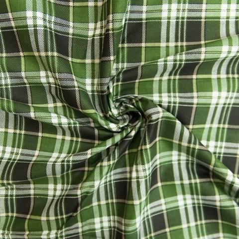 Бязь плательная 150 см 1372/3 Клетка цвет зеленый