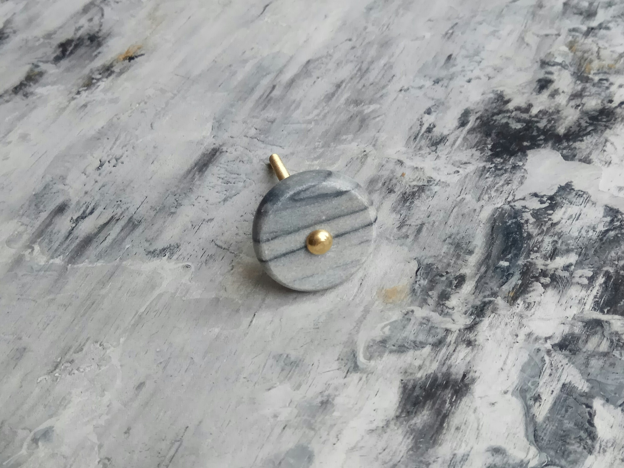 Ручка мебельная из серого мрамора, арт. 00001074