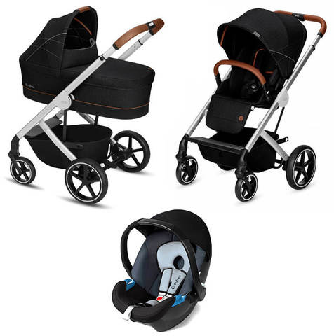 Детская коляска Cybex Balios S 3 в 1 Denim Collection Lavastone Black