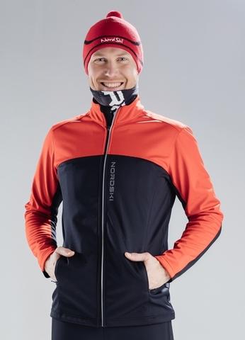 Разминочная куртка Nordski Activе Red/Black мужская
