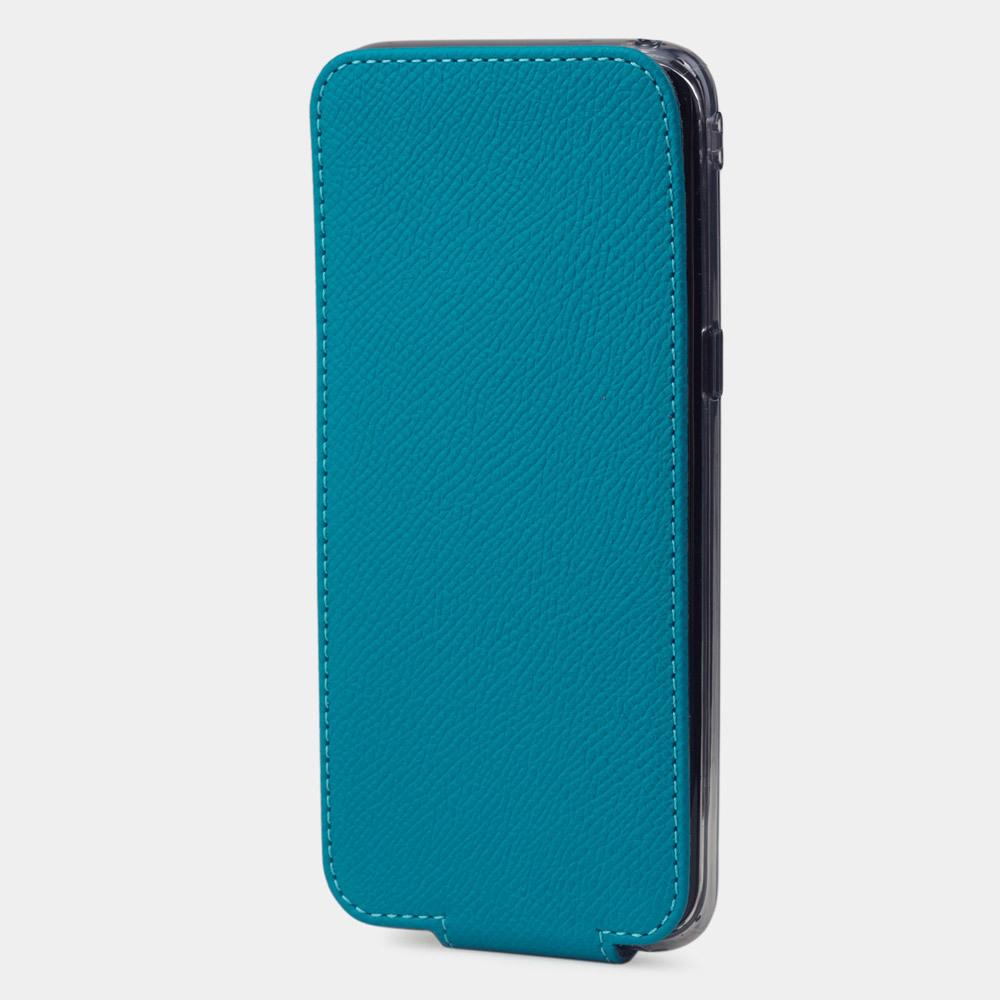Чехол для Samsung Galaxy S8 из натуральной кожи теленка, морского цвета