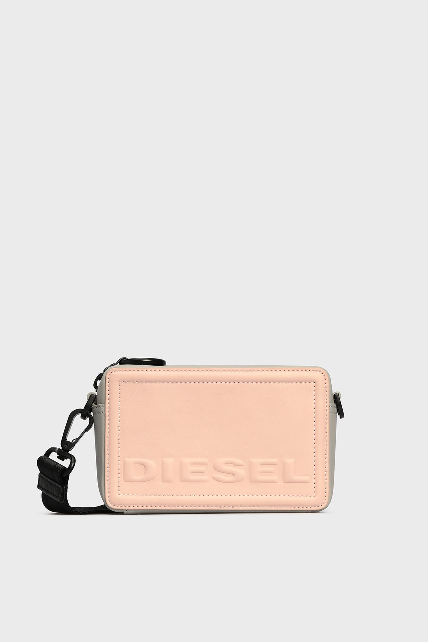 Женская розовая кожаная сумка через плечо ROSA Diesel