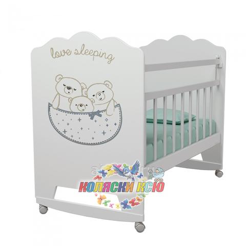 Кровать детская LOVE SLEEPING (колесо-качалка)
