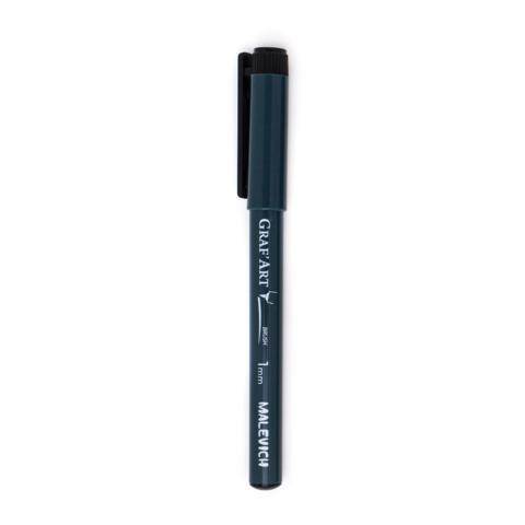 Малевичъ Graf'Art капиллярная ручка кисть брашпен черный (тонкая S)