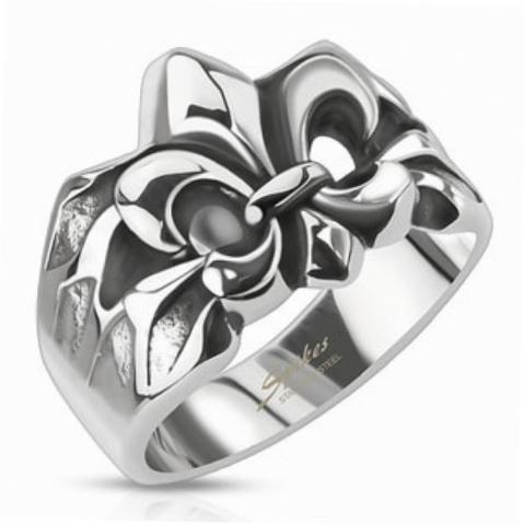 Перстень с лилией, Сталь, SPIKES R-Q8031