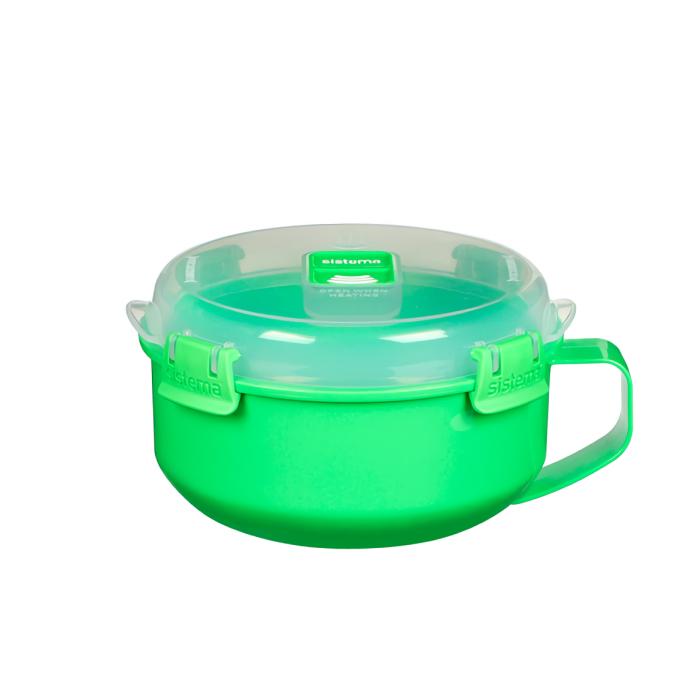 """Чаша для приготовления завтрака в СВЧ Sistema """"Microwave"""" 850 мл, цвет Зеленый"""