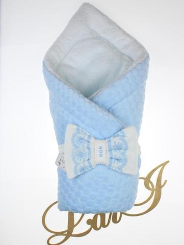 Зимний конверт одеяло Зефирка (голубой)