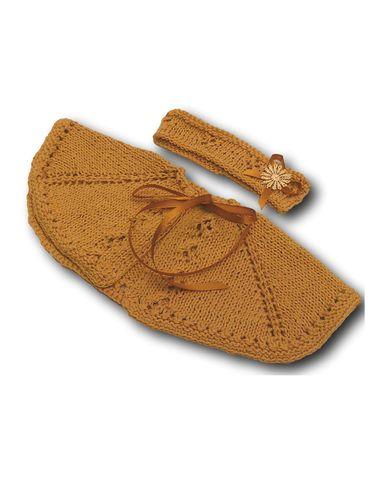 Вязаное пончо - Бежевый. Одежда для кукол, пупсов и мягких игрушек.