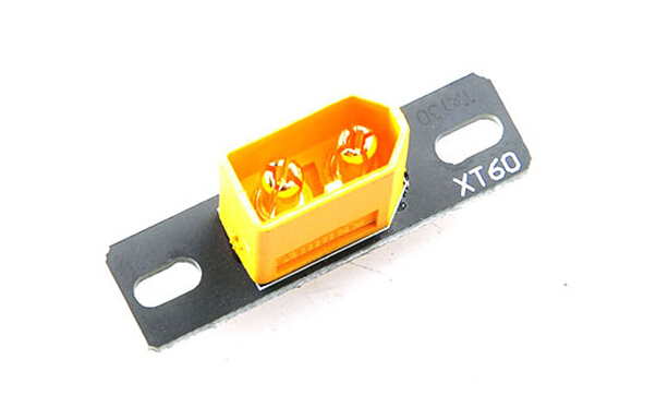 Пример установленного разъёма xt60
