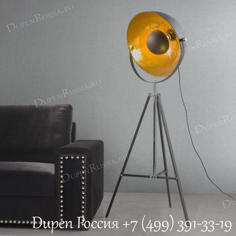 Торшер FL-12032BK Black+Gold