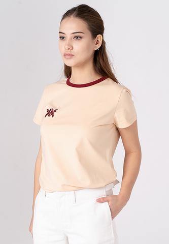 Хлопковая футболка с вышивкой