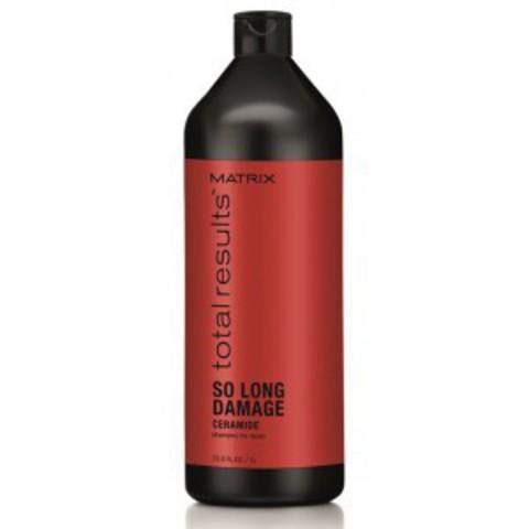 Шампунь с керамидами для восстановления волос, Matrix So Long Damage,1000 мл.
