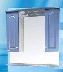 Зеркало-шкаф SanMaria Венге-80 синий