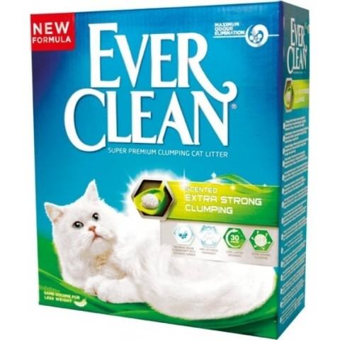 EVER CLEAN EXTRA STRONG комкующийся с ароматизатором 6л (3,17кг)