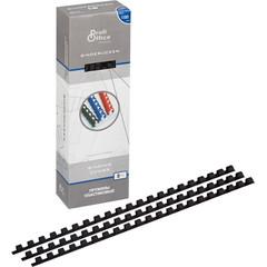 Пружины для переплета пластиковые ProfiOffice 8 мм черные (100 штук в упаковке)