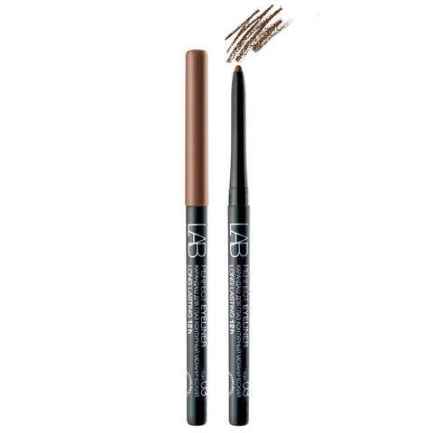 Карандаш для глаз LAB colour Perfect Eyeliner Long Lasting 12h контурный механический тон 03 коричневый , ( Белита )