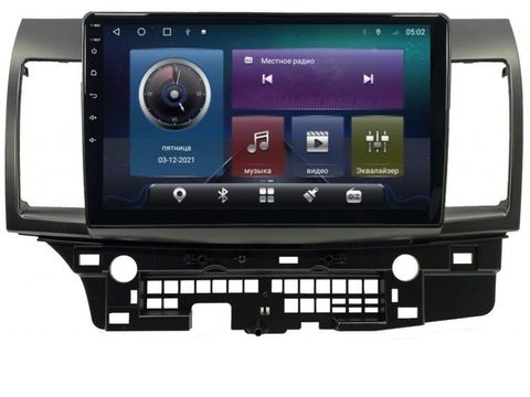 Магнитола для Mitsubishi Lancer X (07-15) Android 10 4/64 IPS DSP 4G модель CB-2042TS10