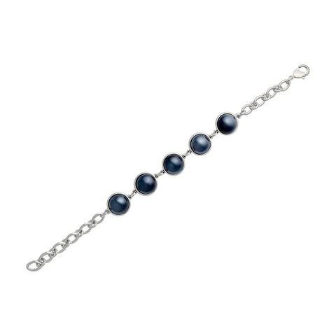 Классический браслет Pearl Black Agate C1362.4 BW/S