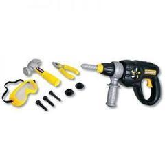 Keenway Набор инструментов (электрошуруповерт, плоскогубцы, винты, защитная маска и молоток) (12762)