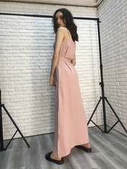 Длинный сарафан розовый купить