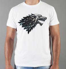 Футболка с принтом Игра престолов (Game of Thrones) белая 0019