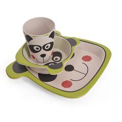 Обеденный набор 3 пр. Панда (бамбуковое волокно)